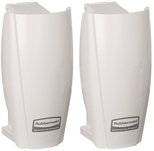 Rubbermaid Commercial Products 1793547 TCell Automated Odor-Controlling Aerosol Air Care System, Fanless, White (2 PACK)