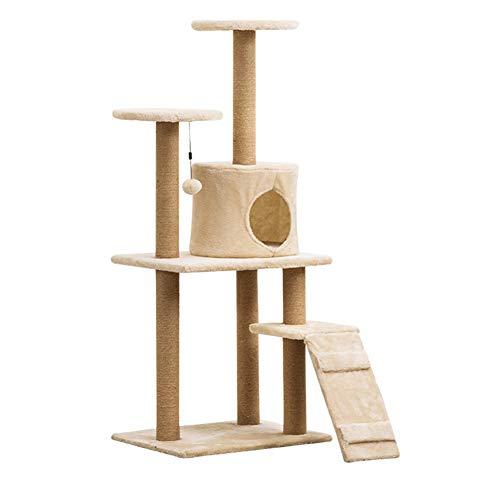 TIANPIN meerlagige kat boom toren appartement jute bedekt kat huis, grote huisdier activiteitencentrum