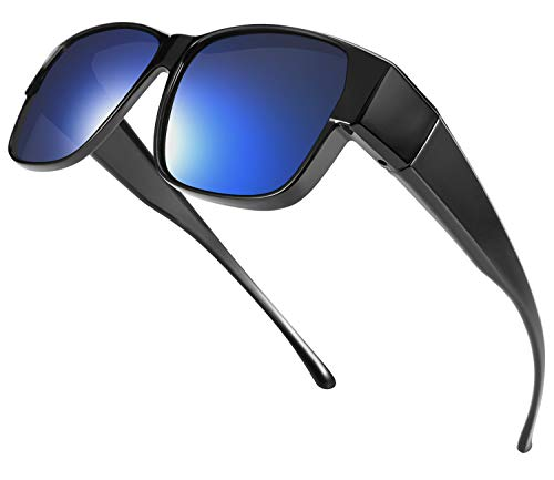 TINHAO オーバーグラス オーバーサングラス 偏光サングラス メガネの上から掛けられる 偏光オーバーグラス 偏光レンズ UV400 紫外線カット 偏光スポーツサングラス ドライブ/野球/自転車/釣り/ゴルフ