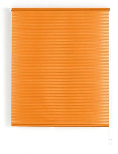 Blindecor Iris Estor Enrollable Translucido Rayado, Tela, Naranja, 140 x 180 cm