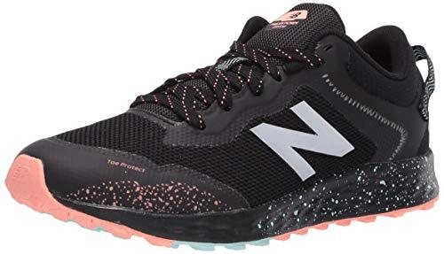 New Balance Kid's Fresh Foam Arishi V1 Trail Running Shoe, Black/Bali Blue/Ginger Pink, 11.5 Little
