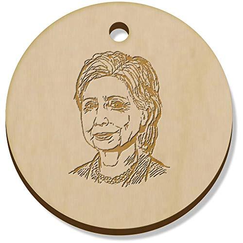 Azeeda 11 x 34mm 'Hilary Clinton' Hölzerne Schmuckanhänger (PN00017748)