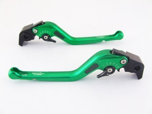 Strada 7 Racing Carbone Long Réglable Leviers Paire Vert pour Buell X1 Lightning