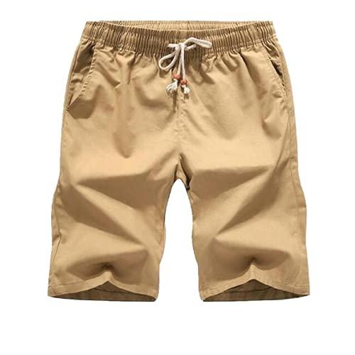 NP est Summer Casual Shorts Men's Cotton Man Home Shorts Size Men Male Khaki