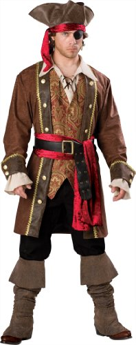 En Costumes de caract-re 198666 Captain Skullduggery Elite Adult Costume - Brown - X-Large