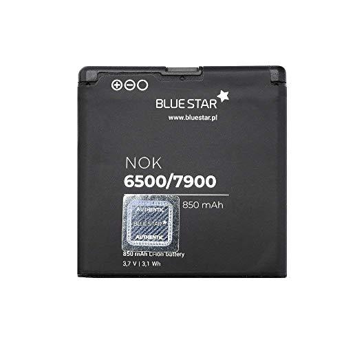 Bluestar Akku Ersatz kompatibel mit Nokia 6500 Classic / 7900 Pirsm 850mAhLi-lon Austausch Batterie Premium Accu BL-6P