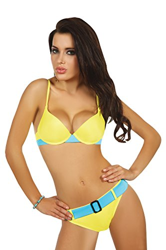 Livia Corsetti Fashion LivCo Corsetti beugel push-up gevoerde Bikini Top en bijpassende Bikini Brief Set