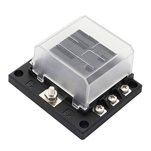 BESPORTBLE 6-Wege-Sicherungsblock mit/Minus-Bus mit LED-Lichtschutzabdeckung für Das Auto