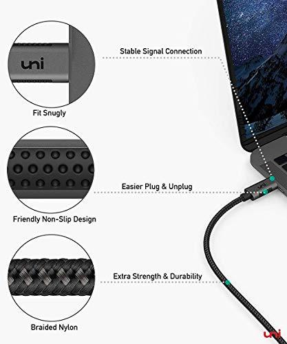 uni USB C zu DisplayPort-Kabel (4K@60Hz, 2K@144Hz), Thunderbolt 3 zu DisplayPort-Kabel, Kompatibel für MacBook Pro 2019/2018/2017, MacBook Air, iPad Pro 2020/2018, Surface Book usw. 6ft/1,8m - 7