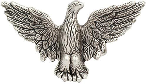 Gürtelschnalle Adler 4,0 cm | Buckle Wechselschließe Gürtelschließe 40mm Massiv | Wechselgürtel bis 4cm | Altsilber