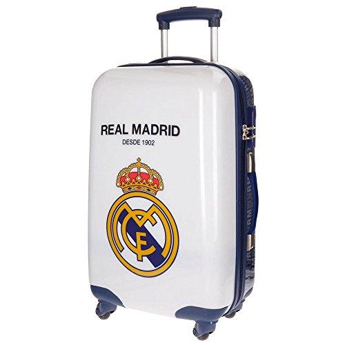 Real Madrid RM 1902 Equipaje Infantil, 67 cm, 53 litros, Blanco