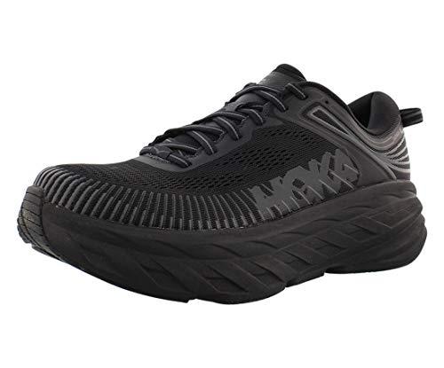 HOKA ONE ONE Mens Bondi 7 Black Running Shoe - 9.5 Wide (2E)