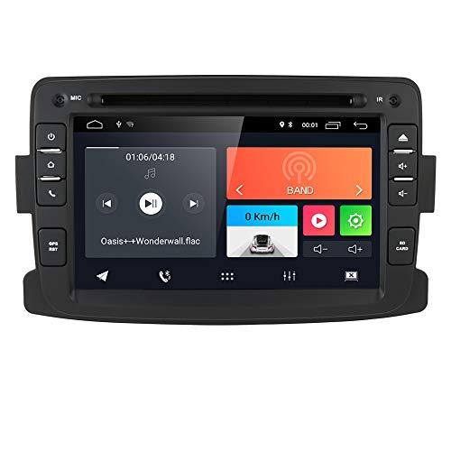 Android 10 Quad Core System 17,8 cm Lecteur DVD de Voiture pour Renault Dokker Dacia Duster Logan Sandero avec autoradio Navigation GPS Radio stéréo Bluetooth SD USB Miroir Link écran Tactile