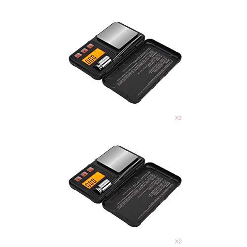Amuzocity Escala de Gramo 4x Escalas de Joyería 200g / 50g Básculas de Cocina para Joyería