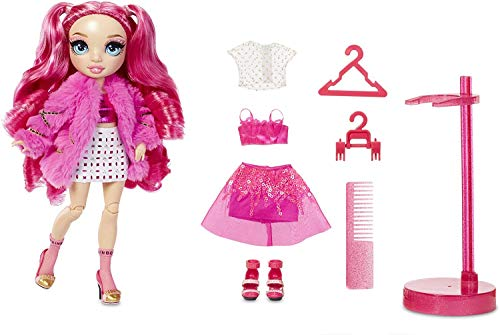 Rainbow High Muñeca de Moda Stella Monroe - Muñeca en Rosa, Conjuntos Elegantes, Accesorios y Soporte para Muñecas - Rainbow High Serie 2 - Regalo Perfecto para Niñas a Partir de 6 Años