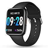 CatShin Smartwatch Orologio Fitness Uomo Donna IP69 Impermeabile Bluetooth Cardiofrequenzimetro da Polso Pedometro Smart Watch Touch Activity Tracker Contapassi per Android iOS