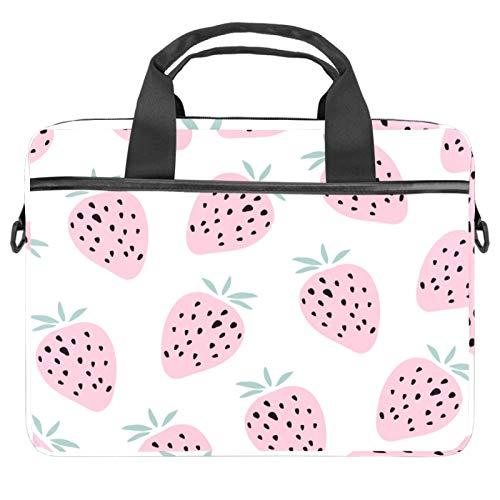 Pink Summer Fruit Strawberry 2021 Laptop Bag 21 inch Business Computer Laptop Case Laptop Sleeve Shoulder Messenger Bag Tablet Carrying Case for Women and Men