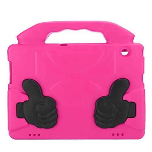 Wosune Cubierta Protectora de Tablet PC, Carcasa Protectora de Tableta para Pulgar Resistente, para el hogar(Rose Red)