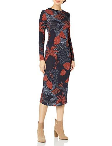 Desigual Vest_David Vestido Casual, Azul, XL para Mujer