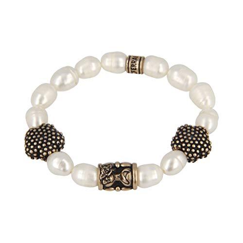 Ferrante Armband Perle Barocken und Einsätze aus Bronze BPEBCD