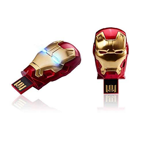 Pen Drive Usb Chiavetta Disco U USB2.0 Marvel's The Avengers Cartone animato anime Creativo Alta velocità Portatile Personalità Impermeabile (32GB, iron man 3)