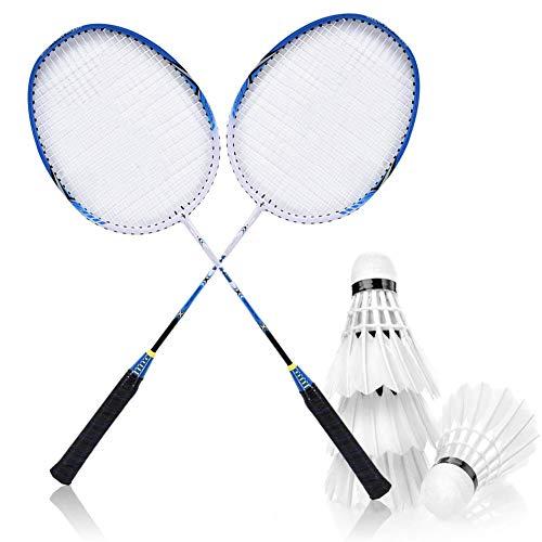 Badminton Racket Set Badminton Training Racquets with Bag Shock Absorption Design for Badminton Training