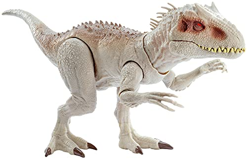 Jurassic World - Dino Rivals Indominus Rex, dinosaurio de juguete para niños +4 años (Mattel GNH35), Embalaje sostenible