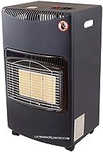 Suinga ESTUFA DE GAS BUTANO, piezo eléctrico con 3 niveles de temperatura. Medidas 43x39x73 cm