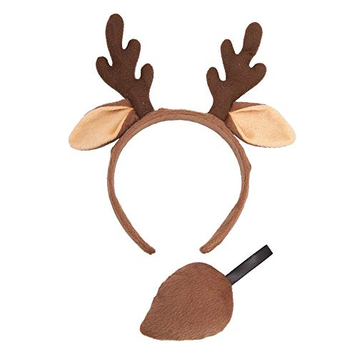 Wicked Costumes Animal Ears & Tail Set Reindeer Fancy Dress Accessory Plush Christmas