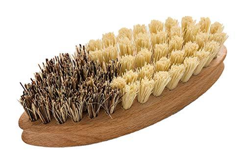 bax im Holz Gemüsebürste aus Buchenholz für Gemüse, Pilze und Holzbackrahmen | Naturborsten in 2 Härtegraden| 14cm