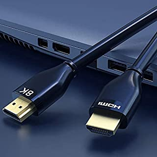 Sony Playstation 5 and X Box Series X Compatible 8K HDMI 2.1 Cable 2 Metre, AviBrex Ultra HD High Speed 48Gpbs 8K60 4K120 ...