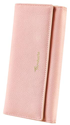 Travelambo Womens Wallet Faux Leather RFID Blocking Purse Credit Card Clutch (Pink 230)