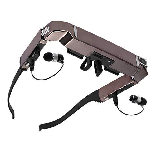 Smart Android WiFi Gafas 80 Pulgadas De Pantalla Ancha Video Portátil Gafas 3D Teatro Privado con Cámara Reproductor Multimedia Bluetooth
