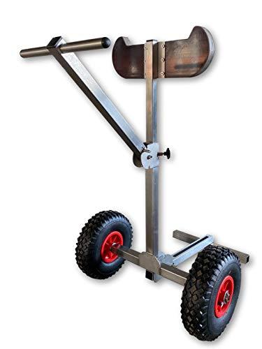 launchingwheels.com - Carrello per motore fuoribordo per imbarcazioni, portatile, in acciaio inox, modello resistente