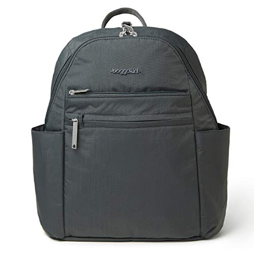 Baggallini womens Baggallini Anti-theft Vacation Backpack, Charcoal, One Size US