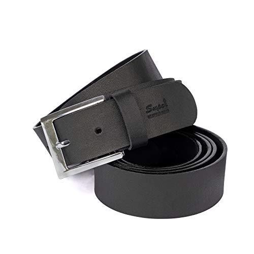 S&G TRADERS Gürtel-Ledergürtel für Herren Damen - 100% Echtleder - B 3,8 cm - Bundweite 106-127 (111)
