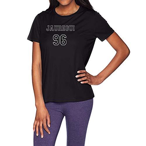 HAOKUII Mujer Black Camiseta T-Shirt Lauren Jauregui 96 Tops Short Sleeve Camiseta T-Shirt