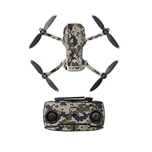 Taoric Adesivo impermeabile corpo e controller Protector per DJI Mavic Mini Drone (2 pezzi), Mimetico 1.