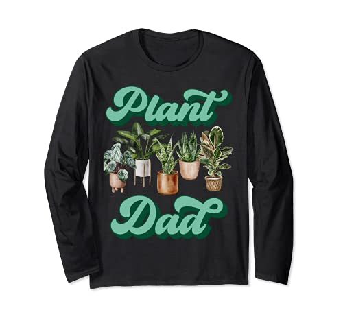 Amanti Piante Finte da Interno Uomo Giardiniere Plant Dad Maglia a Manica
