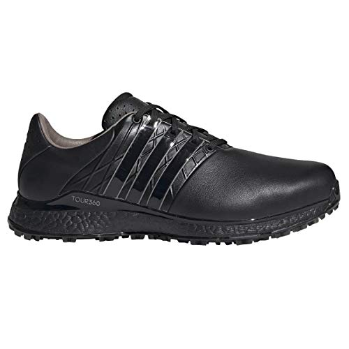 adidas Golf Tour 360 XT-SL - Zapatos de golf impermeables para hombre 2.0, Hombre, Core Black Iron Metallic, 10,5 UK