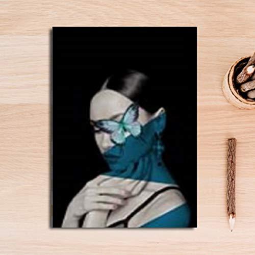 Preisvergleich Produktbild YIYINGSI Leinwand Gemälde An Der Wand Kunst Bilder Fashion Make-Up Girl Decorativeposters Druckt Wohnzimmer Home Wand Dekor,  30 X 40 cm.