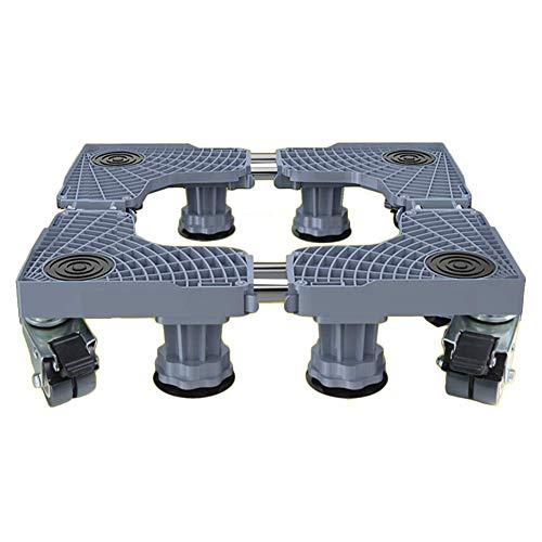 GBX Tragbare Multifunktions-Sackkarren, die Fahrzeuge recyceln, Transportrollwagen aus Kunststoff, rutschfeste, bewegliche Basis, 8 feste Füße, 4 Universalräder mit Bremse, 10 kg Kapazität,Grau