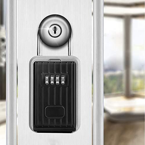Éponte Rangement Extérieur Key Lock Boîte À 4 Chiffres Combinaison Key Password Safe Box Code Reprogrammable Porte-Clés Hider