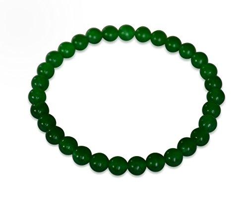 Vifaleno Jade Pulsera, Jade Malasia, Natural, Verde, esférico, 6mm