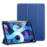 ESR Funda Folio para iPad Air 4 (2020) 10,9 Pulgadas [Soporte Pencil] [Funda Blanda Flexible] [Diseño Tríptico] Serie Rebound - Azul