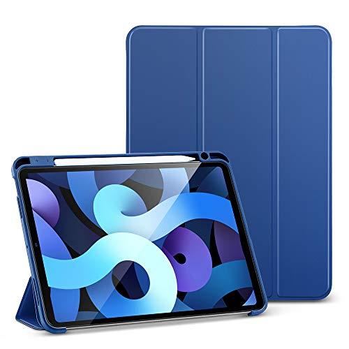 ESR Folio Hülle kompatibel mit iPad Air 10.9 2020(4.Generation), Weiche Flexible Hülle mit Stifthalter,Trifold Ständer, Blau.