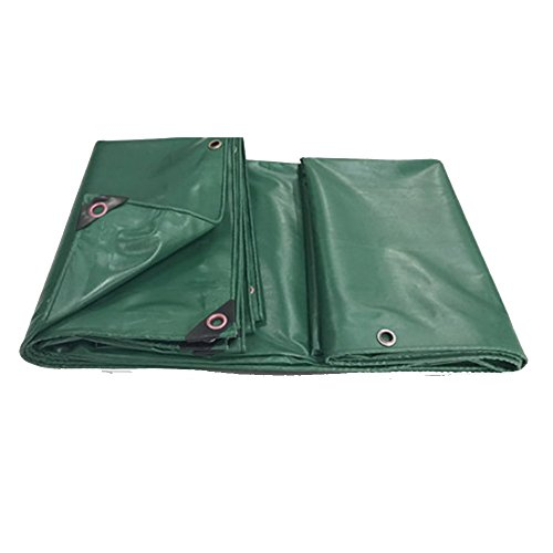 LIYG Plane PVC verdickte schweren Regenstoff Baldachin Plane Autoplanen (Color : Green, Size : 4.8x7.8m)