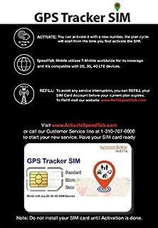 GPS Tracker Triple Cut SIM Card Starter Kit - No Contract (Universal SIM: Standard, Micro, Nano) for 2G 3G 4G Devices - Gl...