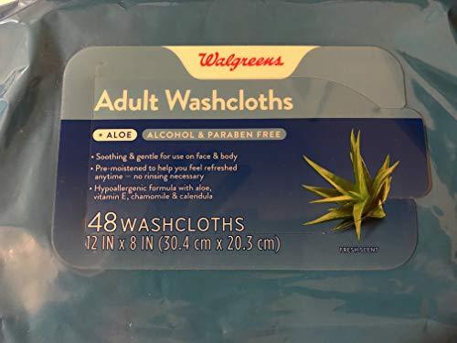 Walgreens Adult Washcloths Aloe 48 ct