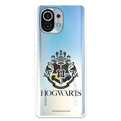 Funda para Xiaomi Mi 11 Oficial de Harry Potter Hogwarts Escudo Transparente. Protege tu móvil con la Carcasa para Xiaomi de Silicona Oficial de Harry Potter.